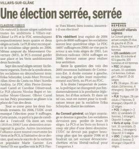 La Lib - 20110312 - Une élection serrée